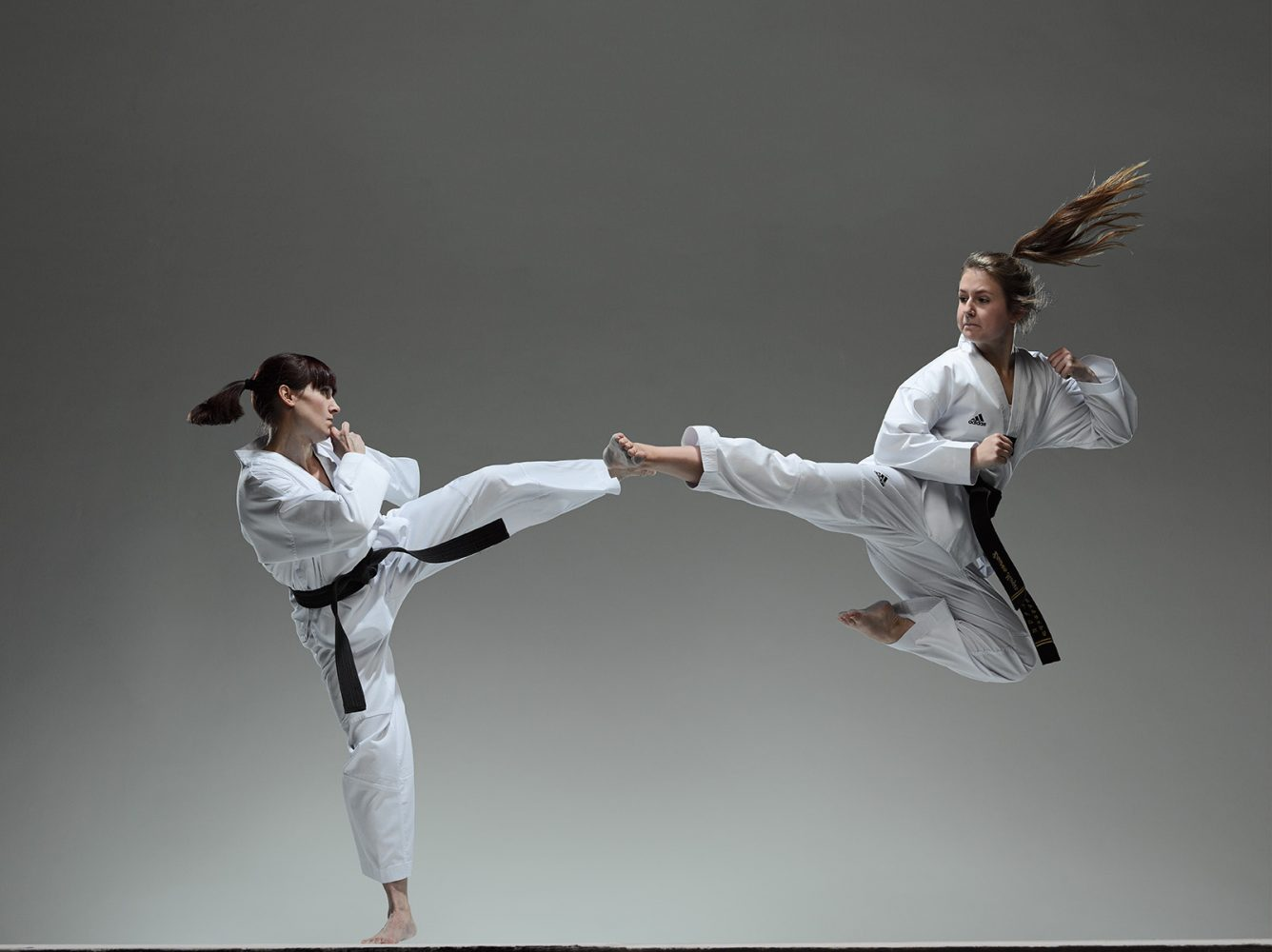 Taekwondo   two girls taekwondo